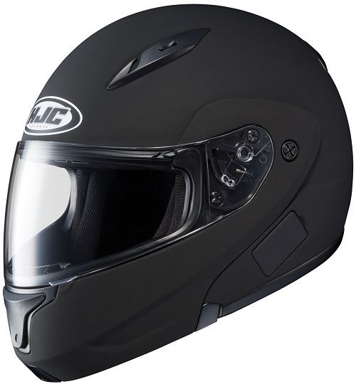HJC CL-MAXBT II Bluetooth Modular Motorcycle Helmet (Matte Black, Medium)