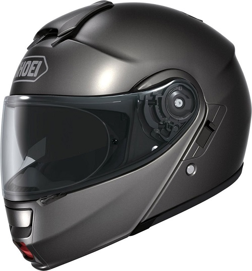 Shoei Neotec Anthracite Modular Helmet with Hawk X2 Black Bluetooth Headset