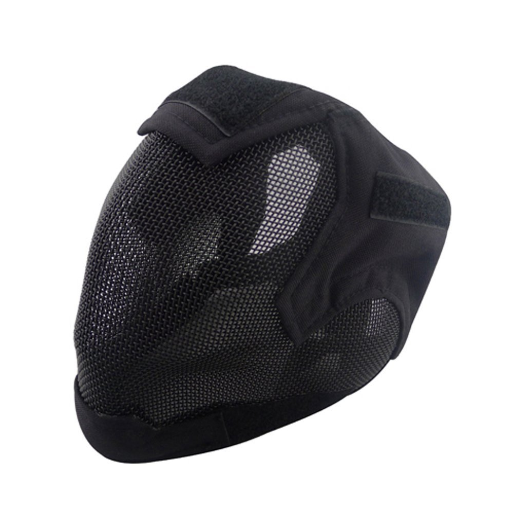 V6 Steel Net Mesh Fencing Cosplay Mask Full Cover Face Protective Tactical Military Paintball Mask